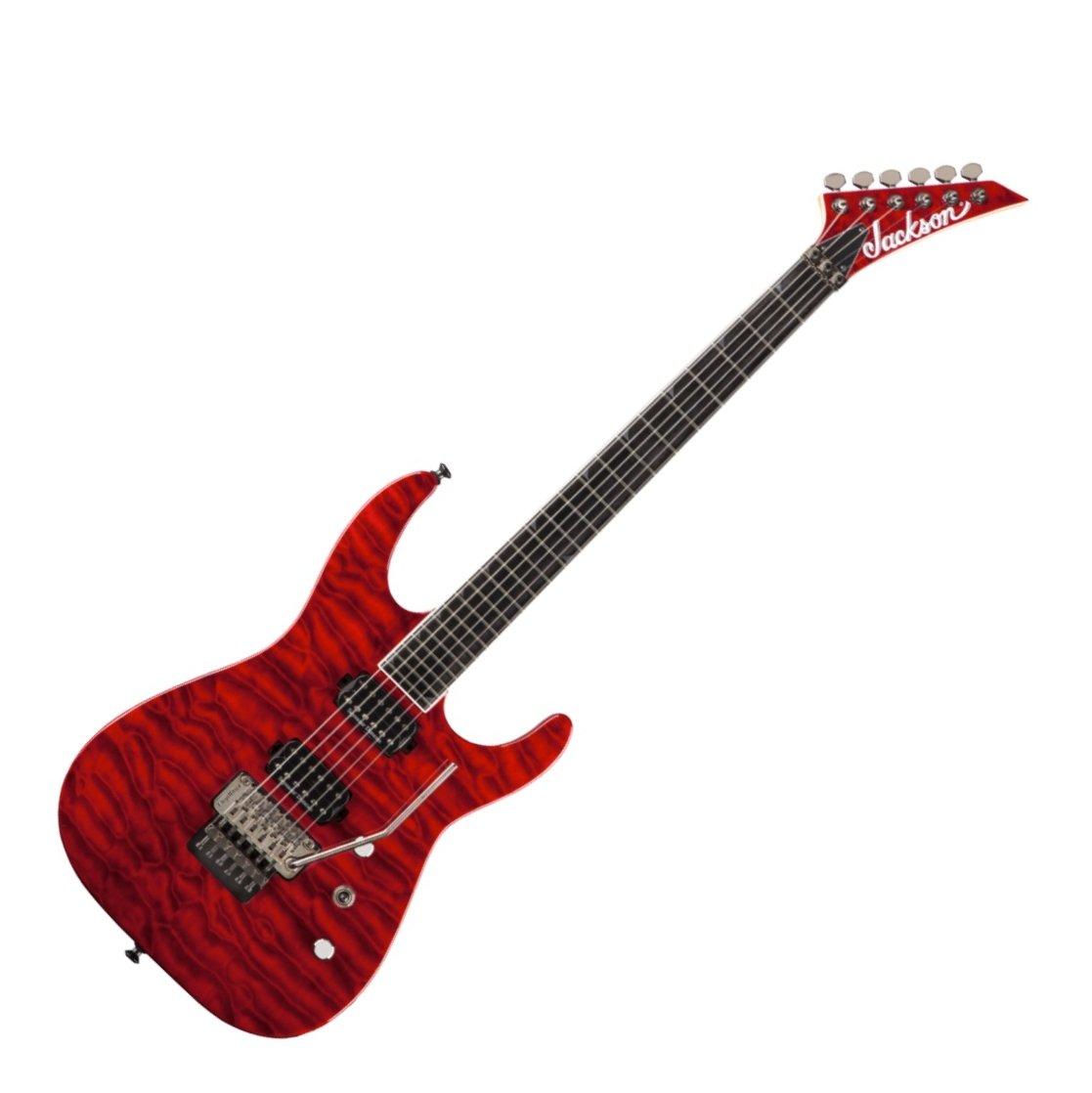 jackson sl2q pro soloist electric guitar in transparent red. Black Bedroom Furniture Sets. Home Design Ideas