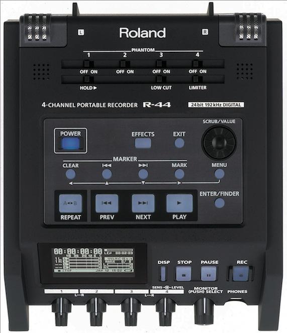roland r 44 4 channel solid state field recorder. Black Bedroom Furniture Sets. Home Design Ideas