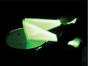 Hiptrix Green Glow in the Dark Drumsticks 5A | AltoMusic.com