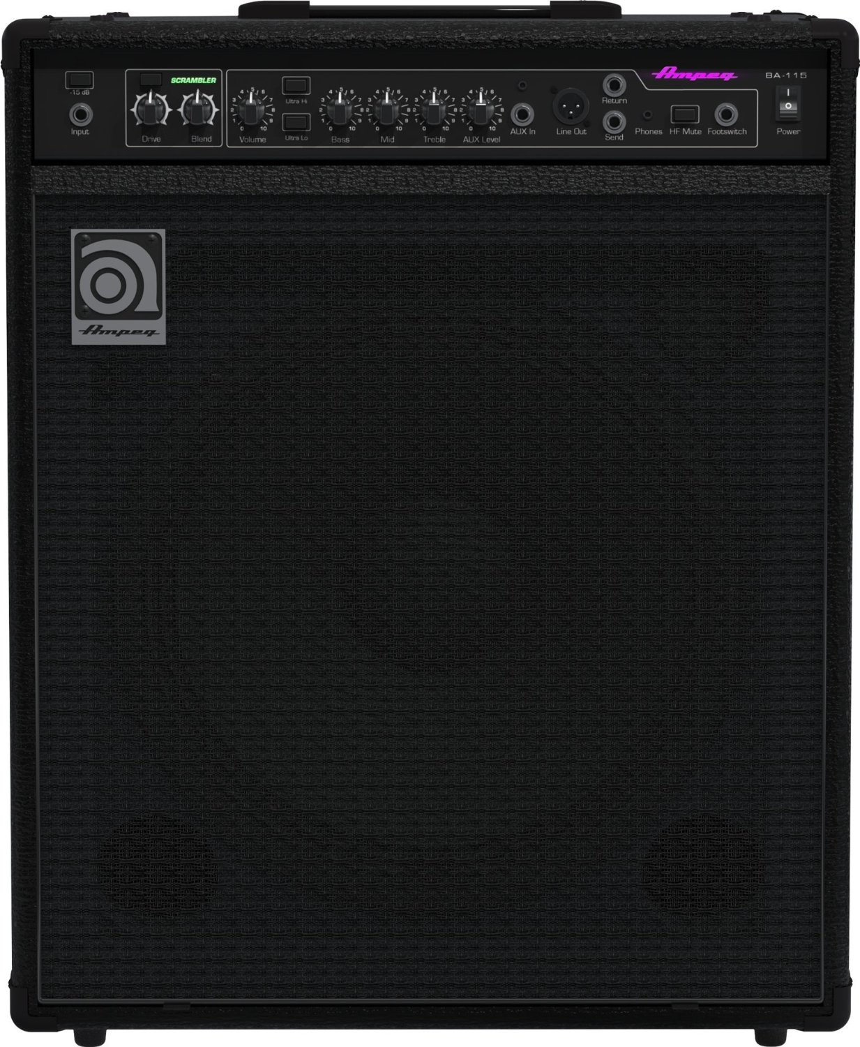 ampeg ba210 v2 450 watt 2x10 bass combo w scrambler. Black Bedroom Furniture Sets. Home Design Ideas