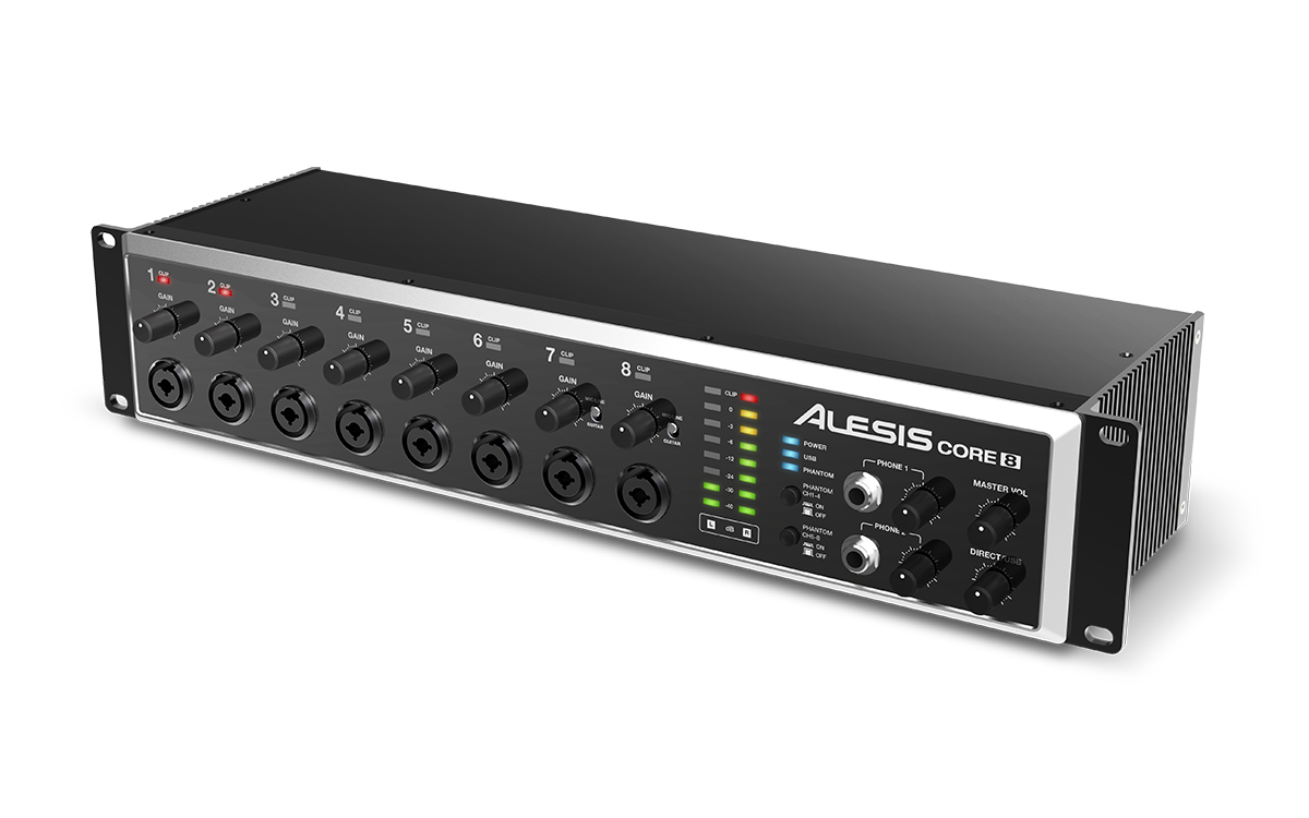 alesis core 8 rackmount usb 2 0 8 channel audio interface