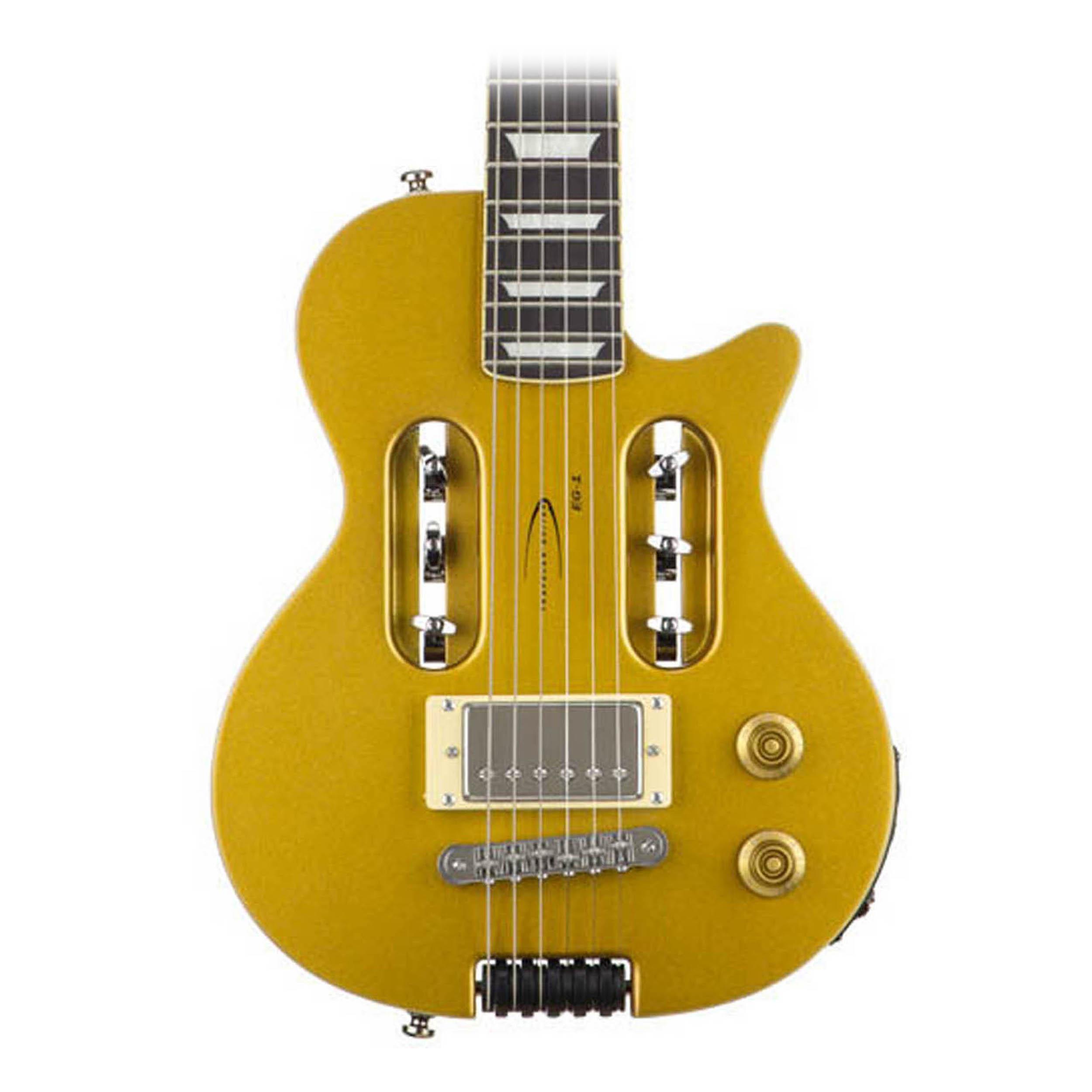 traveler guitar eg 1 custom electric travel guitar gold ebay. Black Bedroom Furniture Sets. Home Design Ideas