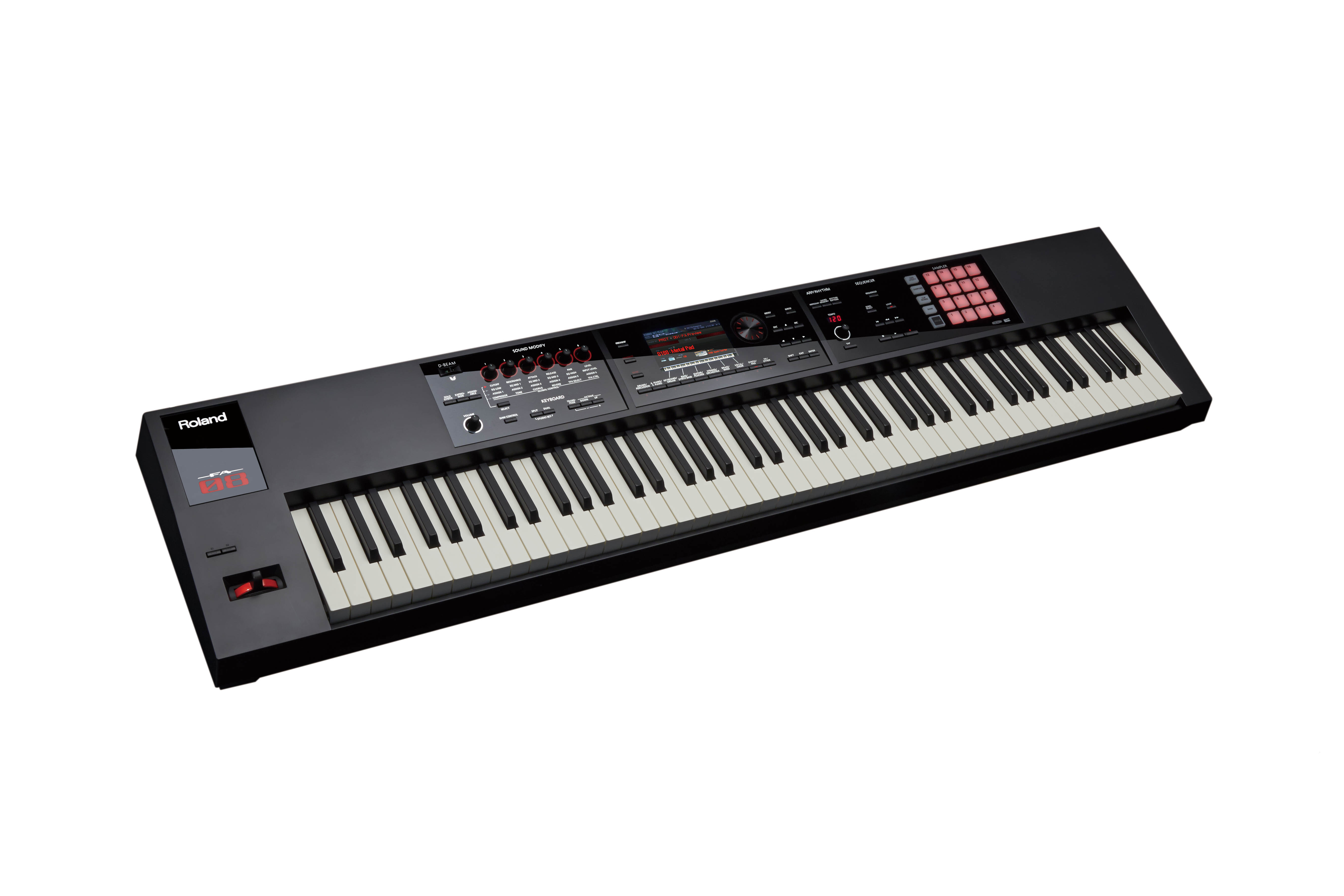 roland fa 08 88 key synthesizer workstation with weighte. Black Bedroom Furniture Sets. Home Design Ideas