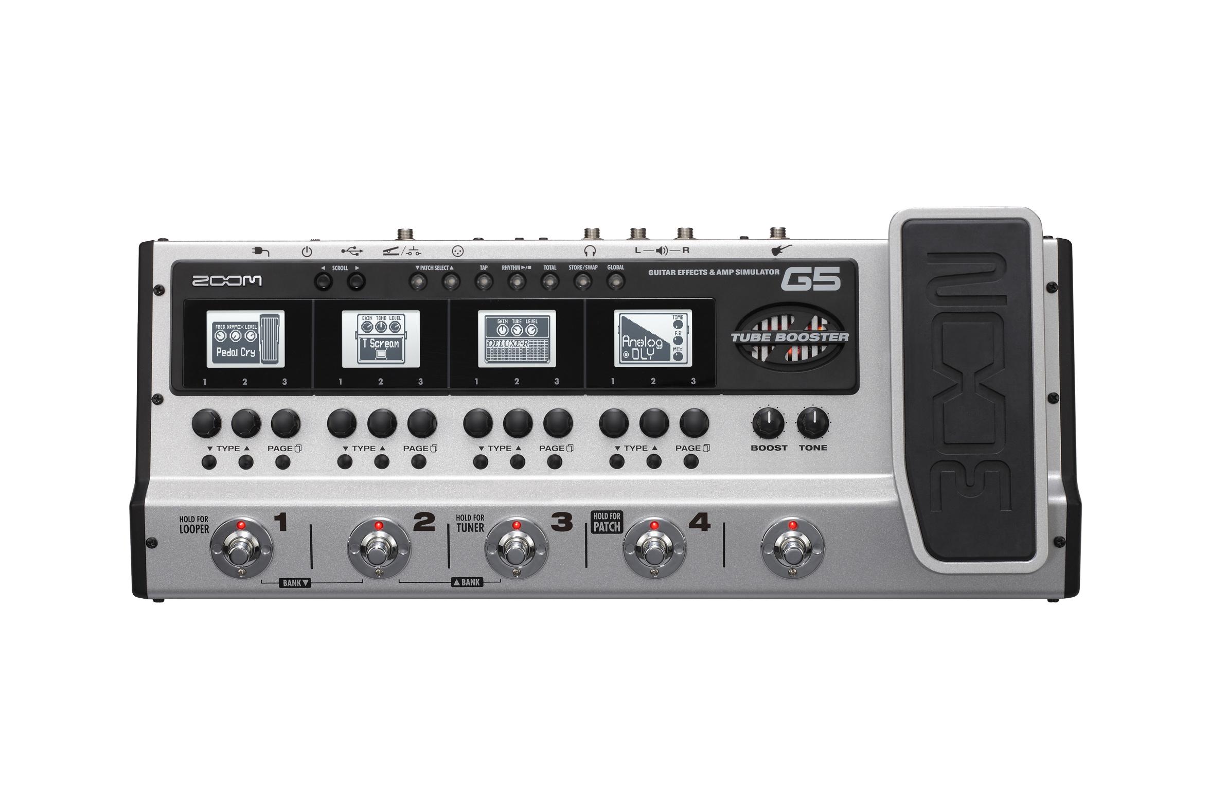 zoom g5 guitar effects amp simulator pedal. Black Bedroom Furniture Sets. Home Design Ideas