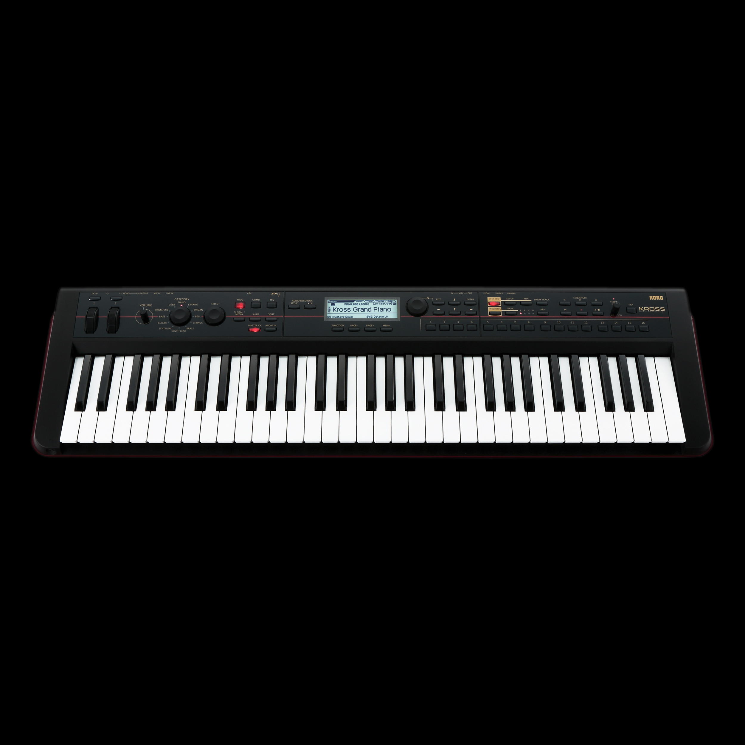 korg kross61 kross 61 synthesizer workstation keyboard 61 note key sequencer ebay