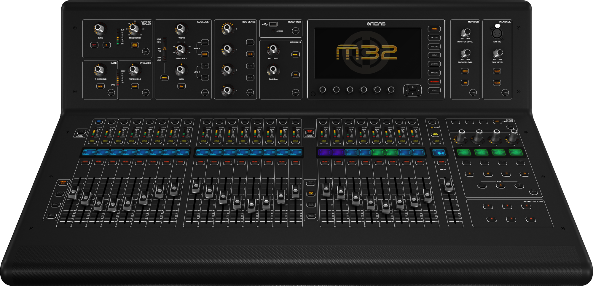 Mission Gathering Tech Team Mixing Monitors On The Midas