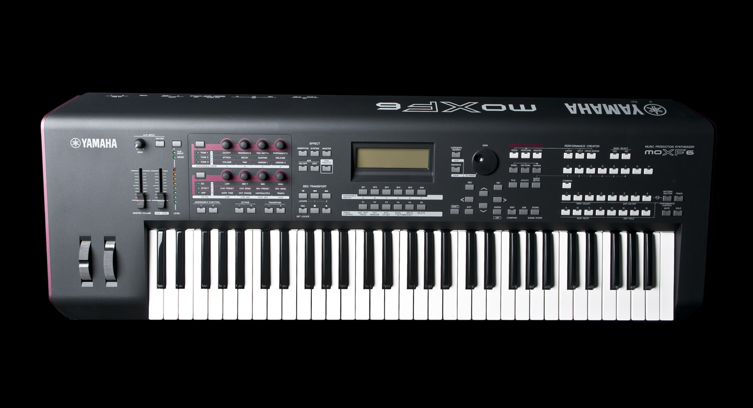 used yamaha moxf6 61 note keys synthesizer workstation k. Black Bedroom Furniture Sets. Home Design Ideas