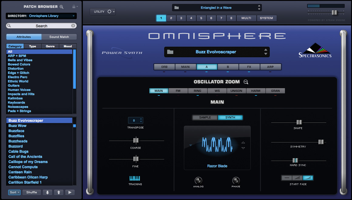 Spectrasonics omnisphere 2 virtual synthesizer software for Virtual home software