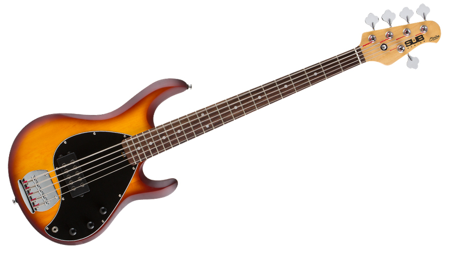 sterling sub ray 5 string bass in honeyburst. Black Bedroom Furniture Sets. Home Design Ideas