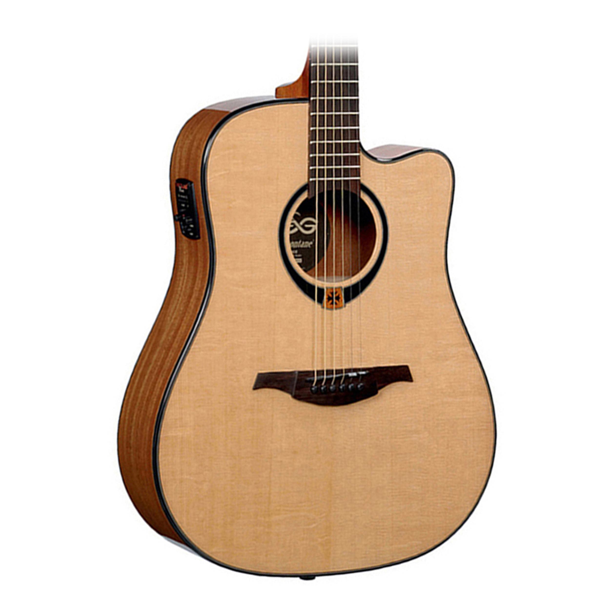 lag t80dce dreadnought acoustic electric guitar solid sp. Black Bedroom Furniture Sets. Home Design Ideas