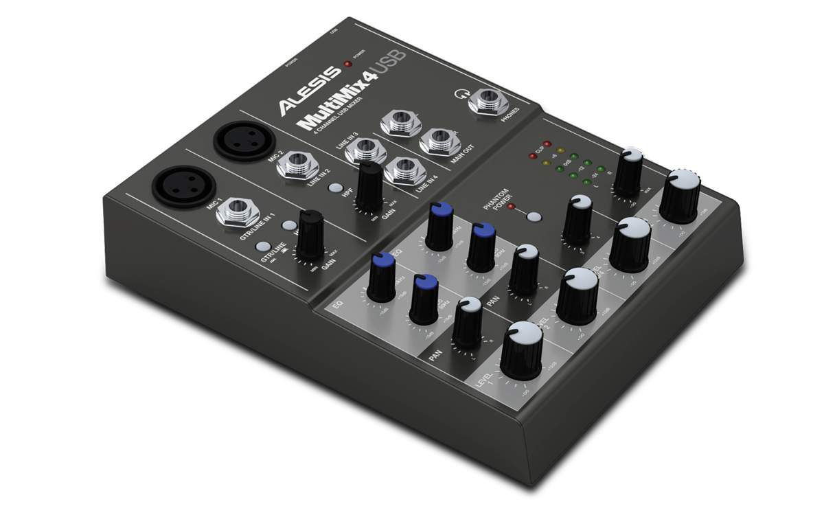 alesis multimix4usb 4 channel mixer with usb digital aud. Black Bedroom Furniture Sets. Home Design Ideas