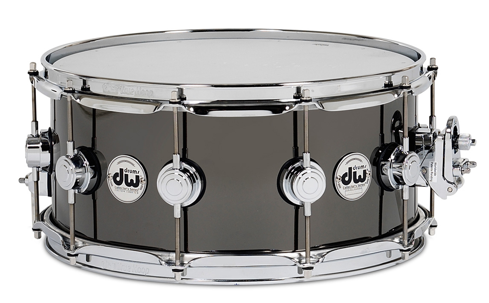 dw collector 39 s series metal snare drum black nickel ove. Black Bedroom Furniture Sets. Home Design Ideas