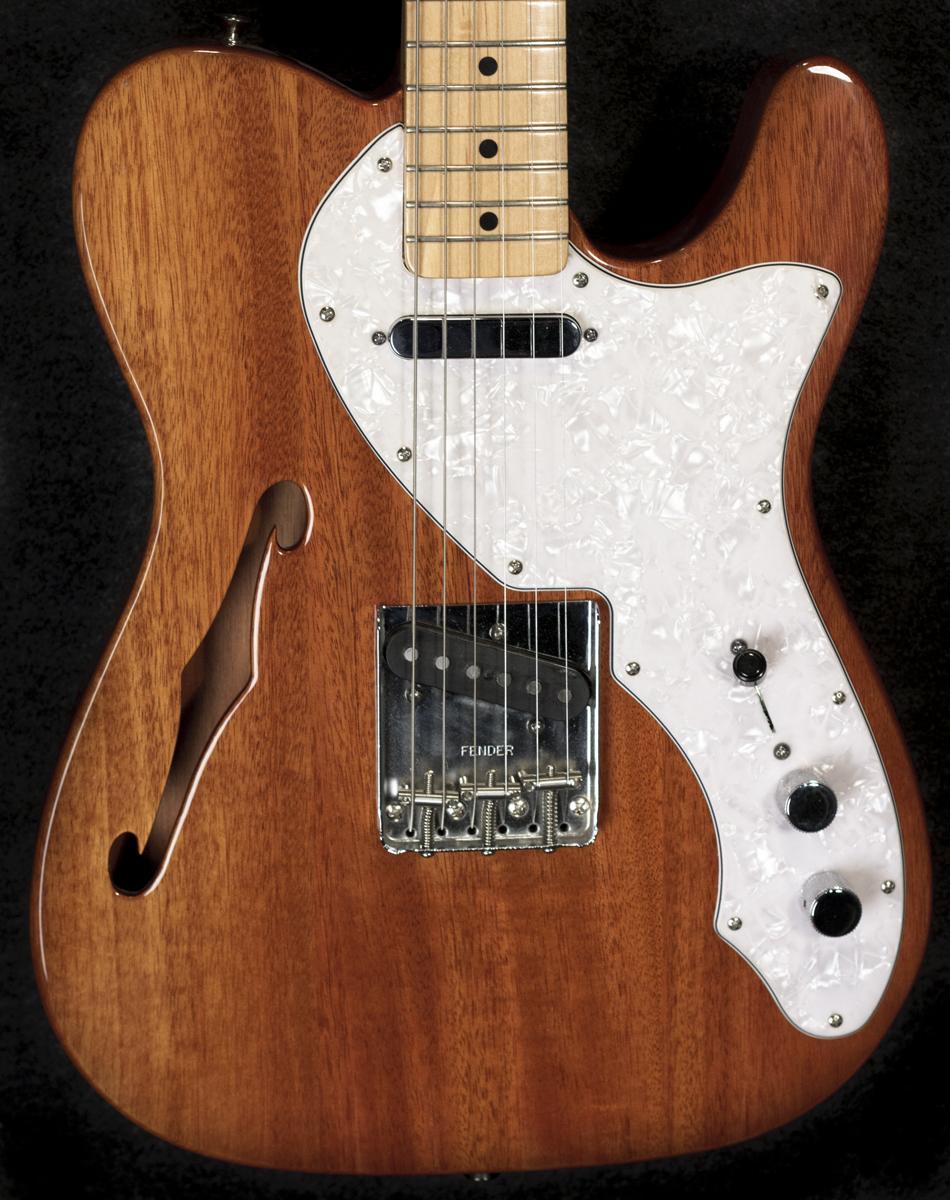 fender 69 telecaster thinline guitar in natural finish. Black Bedroom Furniture Sets. Home Design Ideas