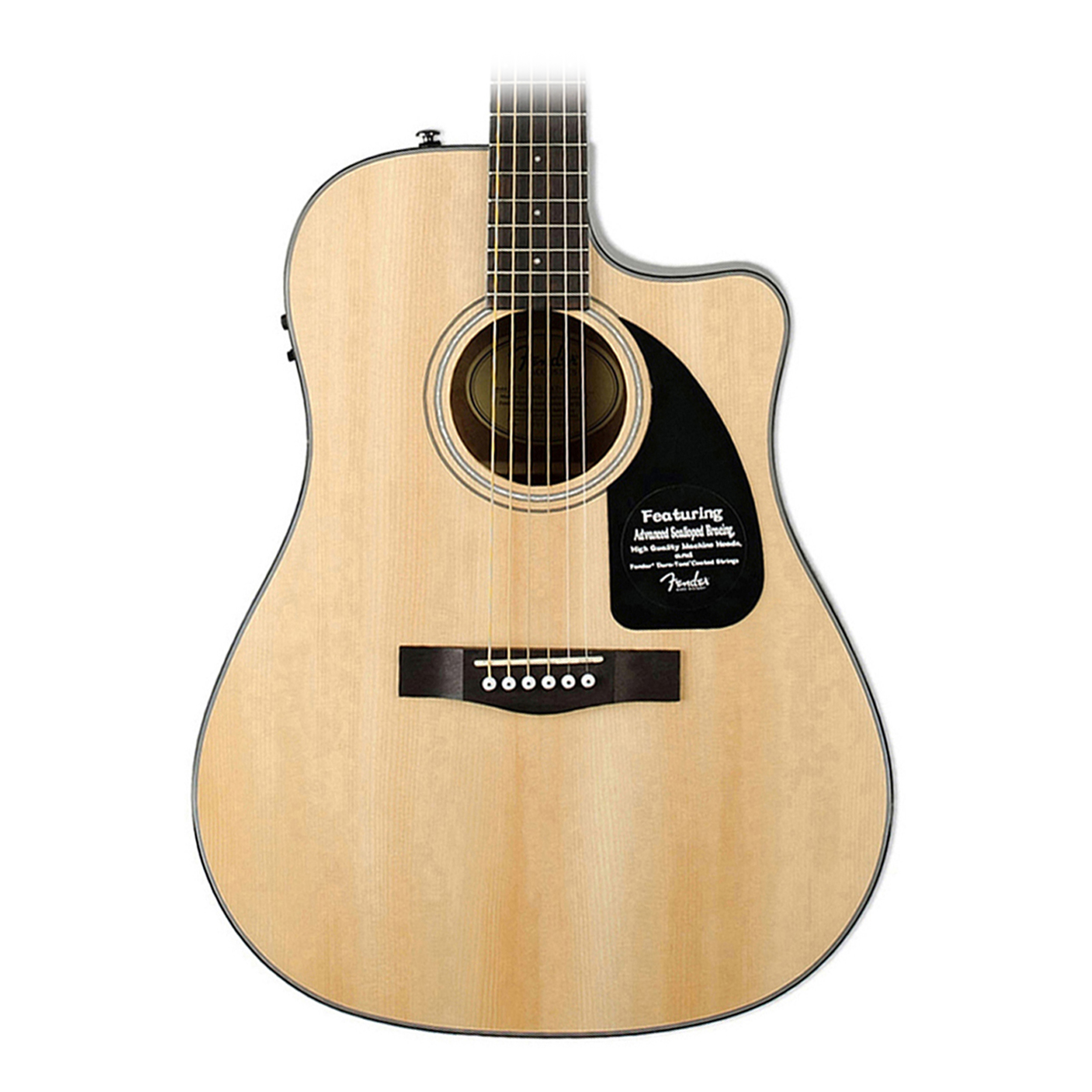 fender cd60ce acoustic electric dreadnaught guitar with. Black Bedroom Furniture Sets. Home Design Ideas