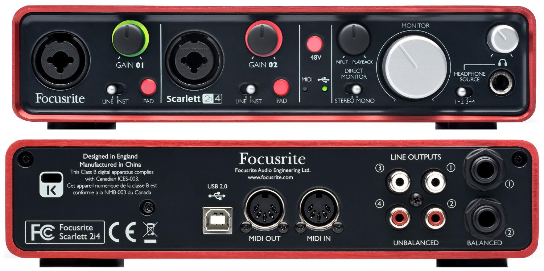 focusrite scarlett 2i4 usb recording interface