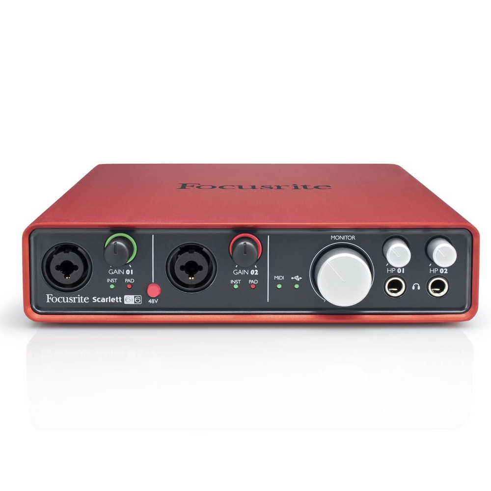 focusrite scarlett 6i6 usb audio interface. Black Bedroom Furniture Sets. Home Design Ideas