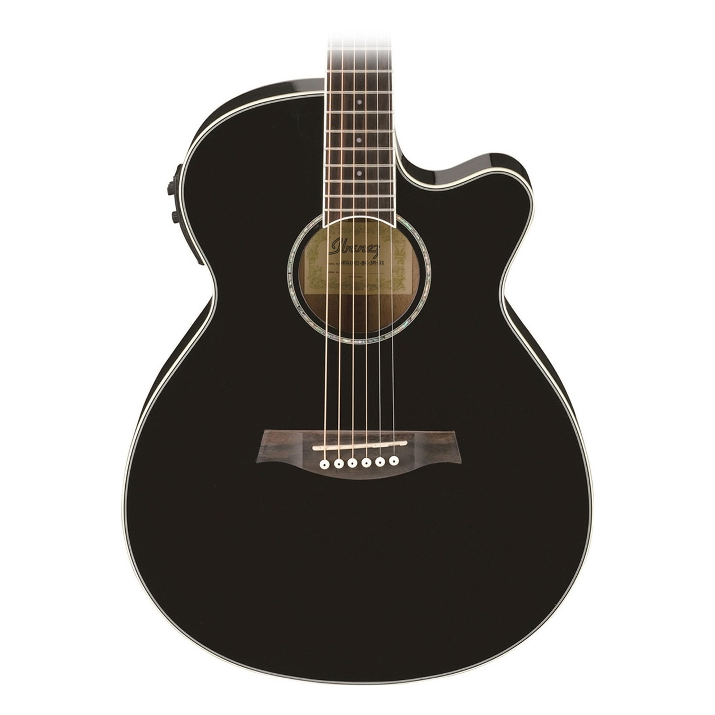 ibanez aeg10iibk black acoustic electric guitar. Black Bedroom Furniture Sets. Home Design Ideas