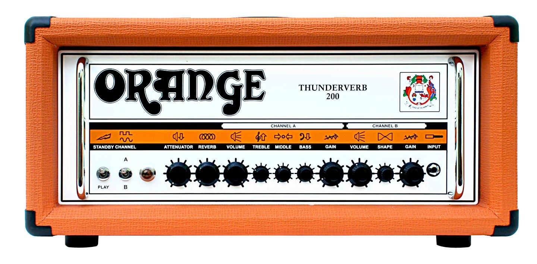 orange th200h thunderverb 200w twin channel guitar amp head. Black Bedroom Furniture Sets. Home Design Ideas
