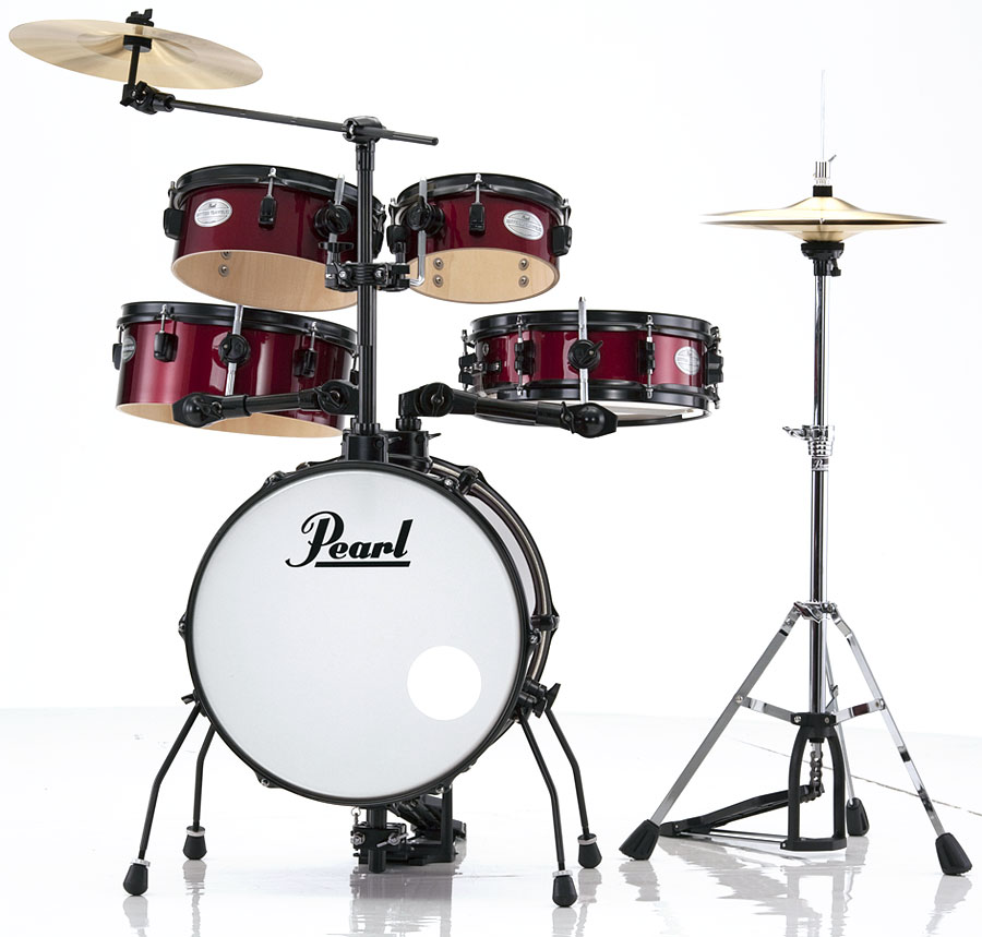 pearl rt565 rhythm traveler pod 5 piece drum set in wine red. Black Bedroom Furniture Sets. Home Design Ideas