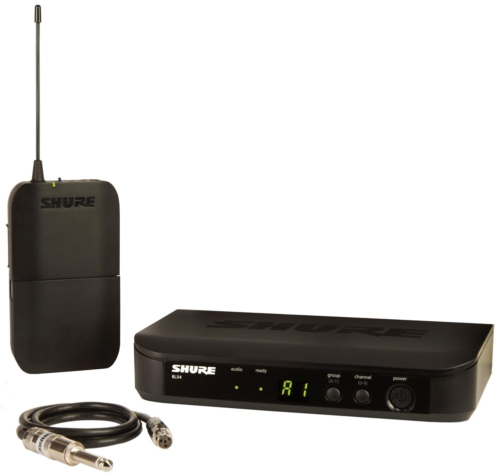 shure blx14 guitar wireless system with wa302 guitar ca. Black Bedroom Furniture Sets. Home Design Ideas