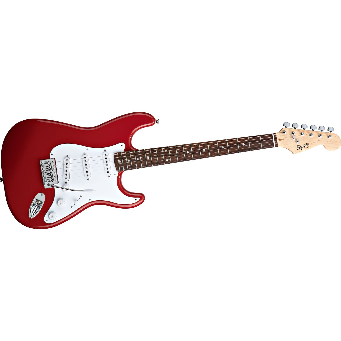squier by fender bullet strat fiesta red electric guitar. Black Bedroom Furniture Sets. Home Design Ideas