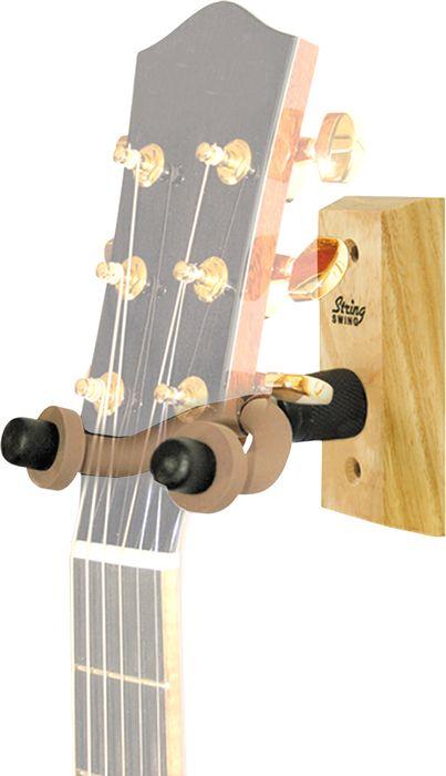 string swing wood guitar wall hanger. Black Bedroom Furniture Sets. Home Design Ideas