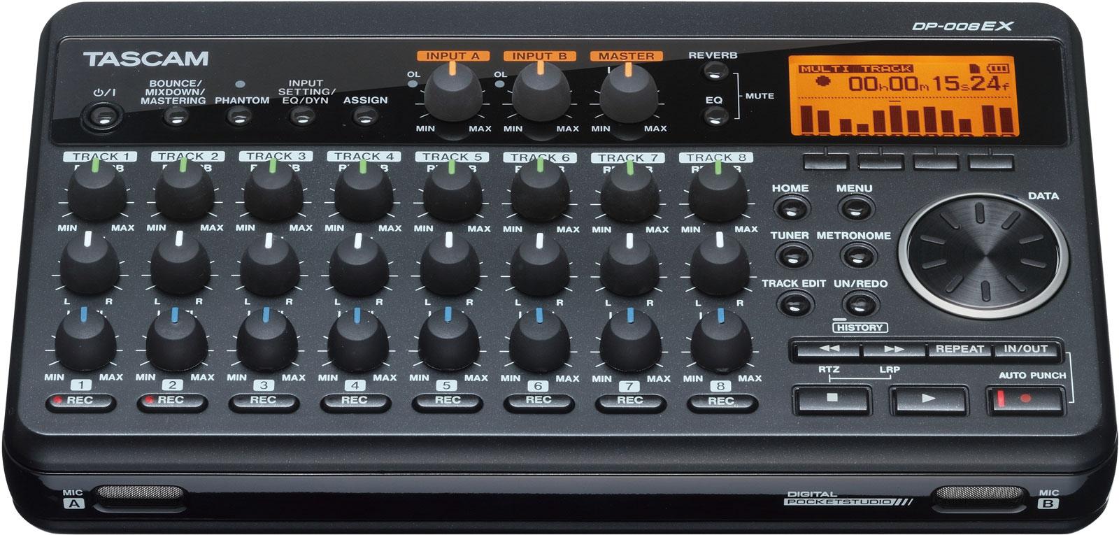 tascam dp008ex digital 8 track recorder. Black Bedroom Furniture Sets. Home Design Ideas
