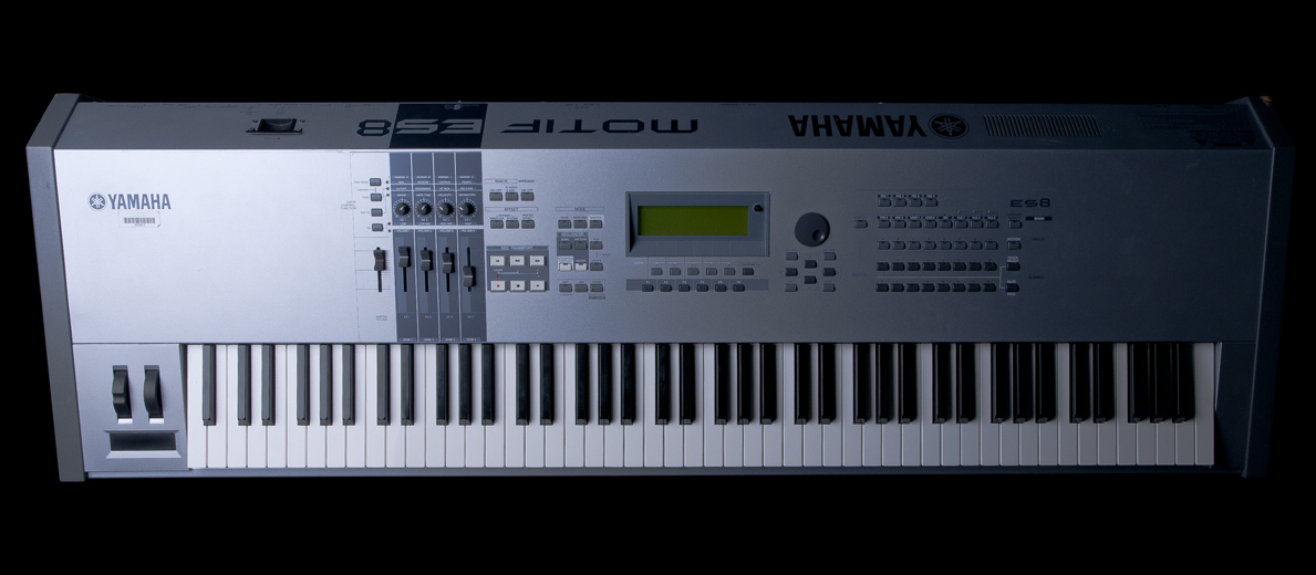 used yamaha motif es8 88 key music production synthesizer. Black Bedroom Furniture Sets. Home Design Ideas