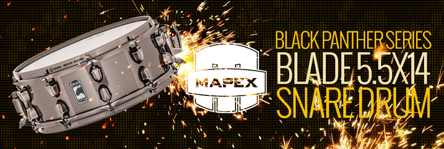 Mapex Black Panther Series Blade Snare Drum 5.5X14