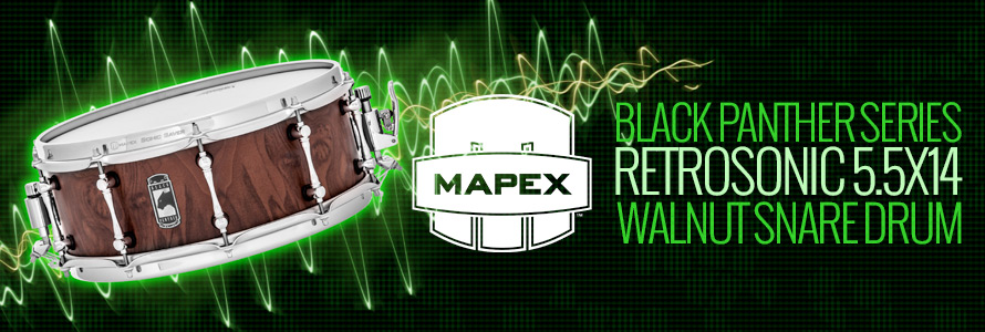 Mapex Black Panther Series Retrosonic Walnut Snare Drum 5.5x14