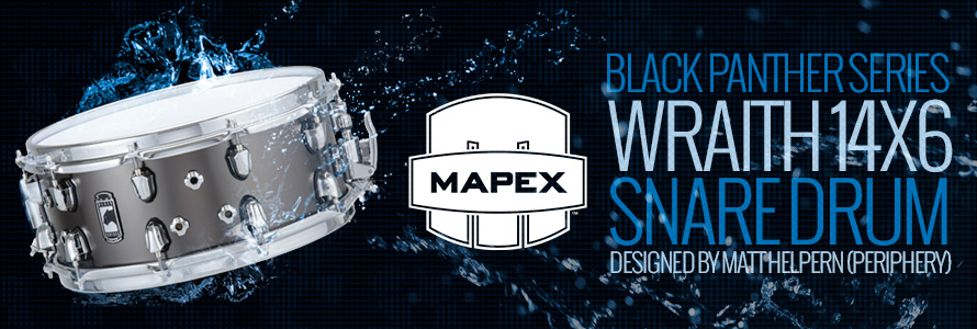 Mapex Black Panther Series Wraith 14x6 Snare Drum Designed by Matt Helpern (Periphery)