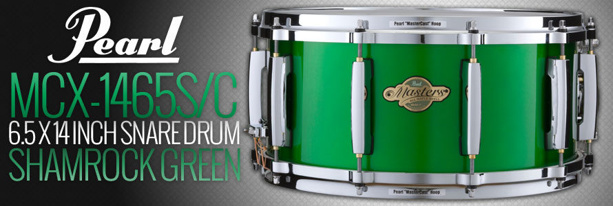 Pearl MCX-1465S/C Snare Drum in Shamrock Green