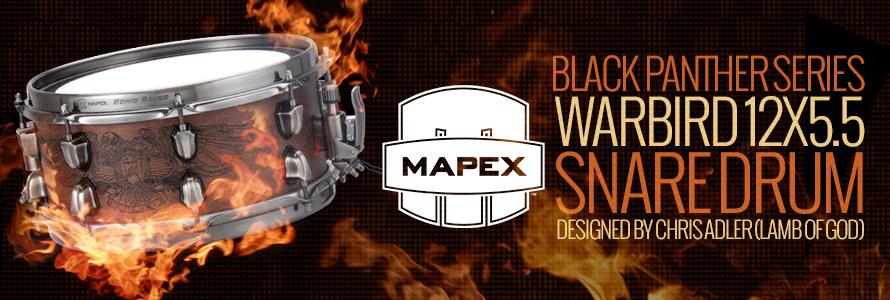 Mapex Black Panther Series Chris Adler Warbird Snare Drum 12x5.5