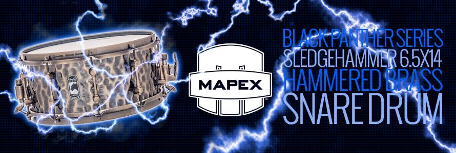 Mapex Black Panther Sledgehammer 6.5x14 Hammered Brass