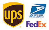 Shipping Options Including UPS, FedEx, United States Postal Service