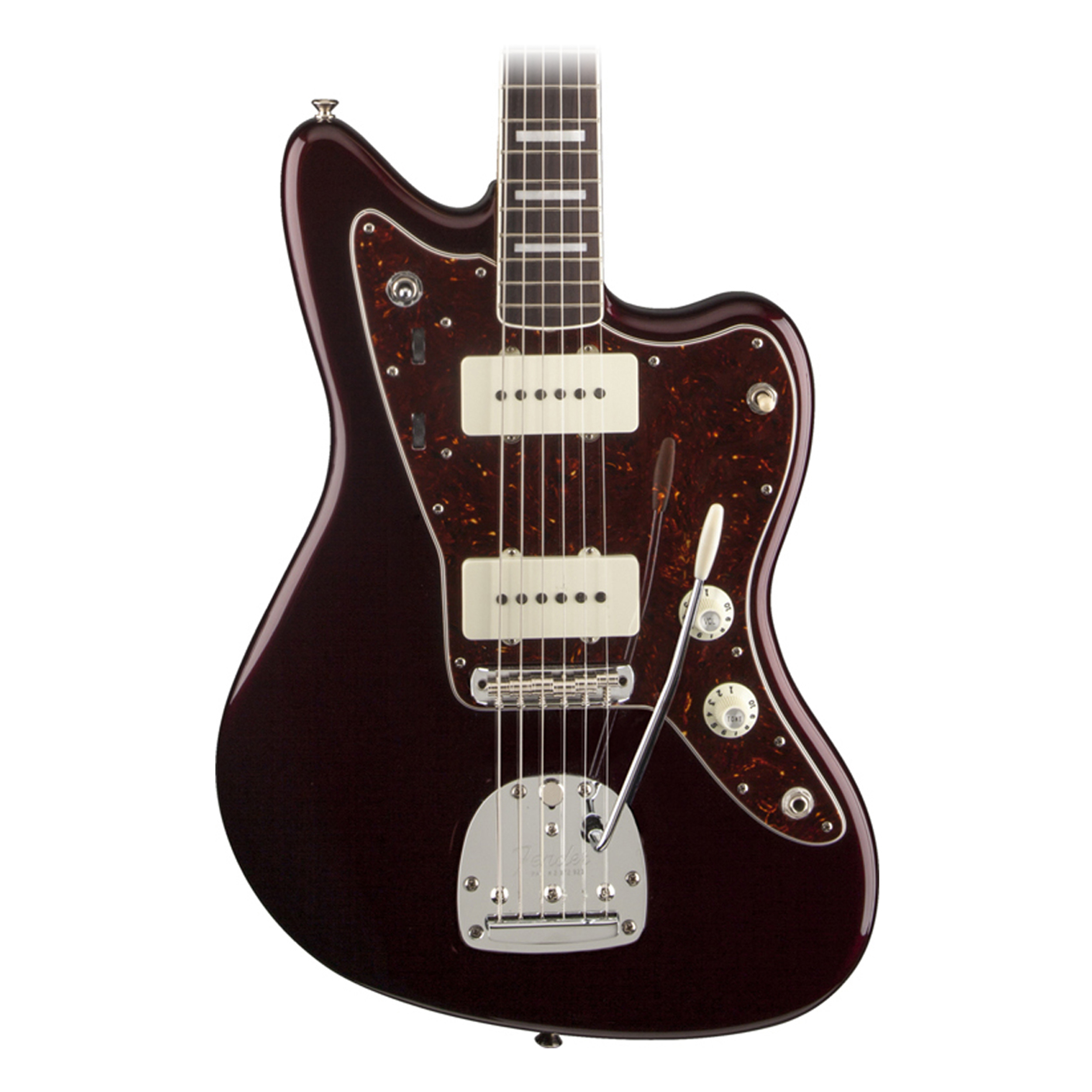 fender troy van leeuwan jazzmaster electric guitar in oxblood finish with case ebay. Black Bedroom Furniture Sets. Home Design Ideas