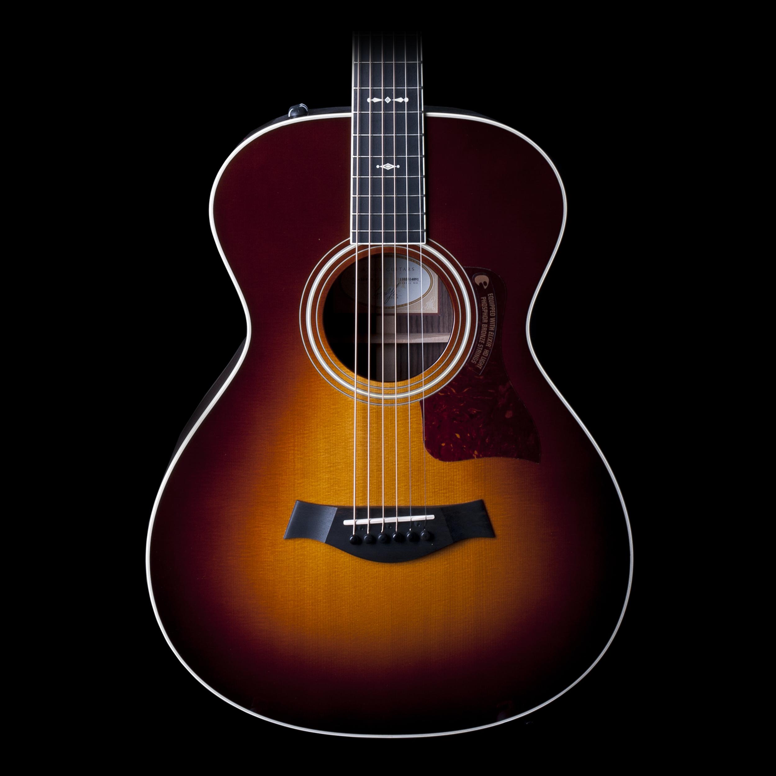 taylor 712e 12 fret grand concert acoustic electric guitar sunburst w case ebay. Black Bedroom Furniture Sets. Home Design Ideas