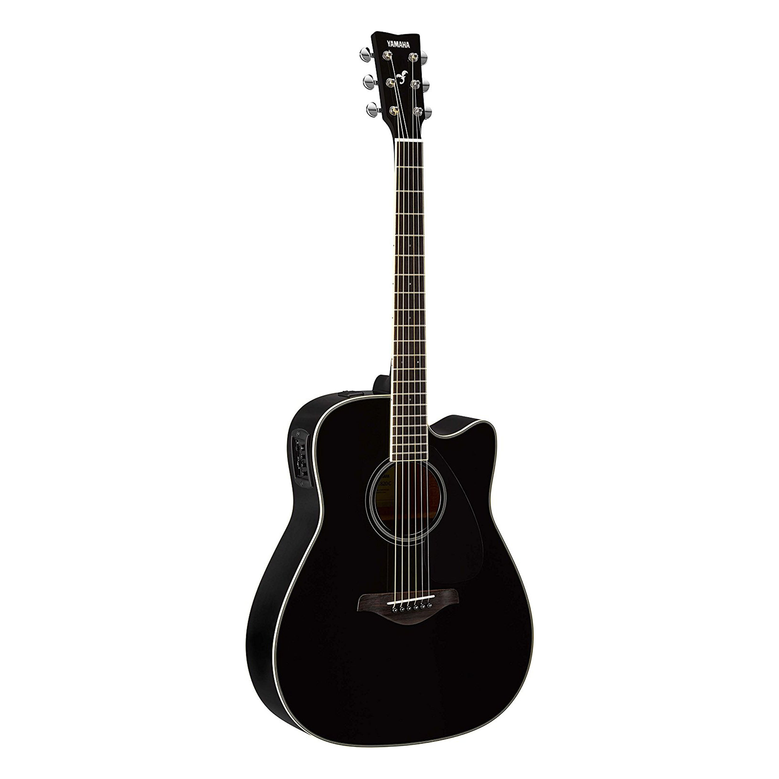 Yamaha fgx800c acoustic electric guitar in black ebay for Yamaha classic guitar