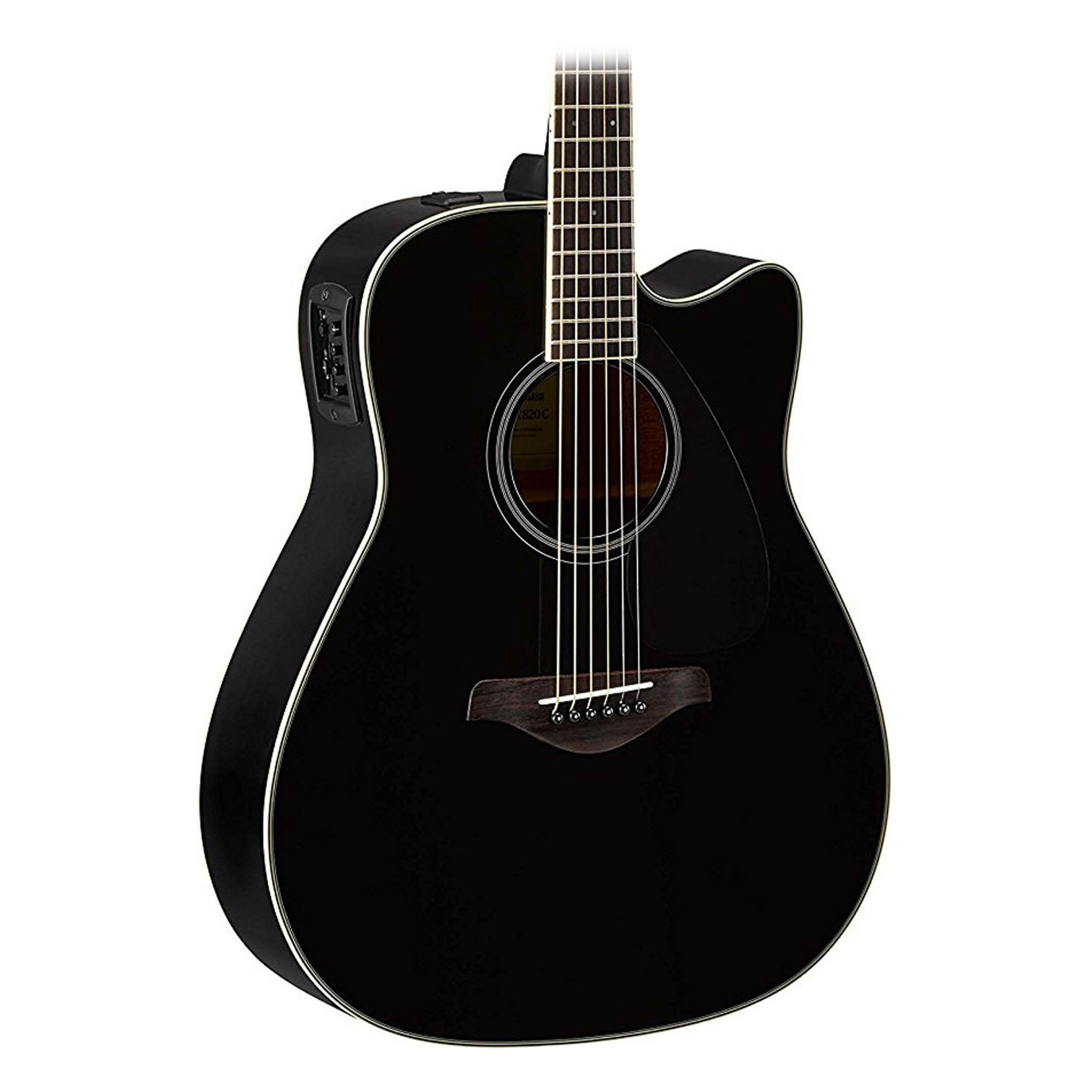 yamaha fgx800c acoustic electric guitar in black ebay. Black Bedroom Furniture Sets. Home Design Ideas