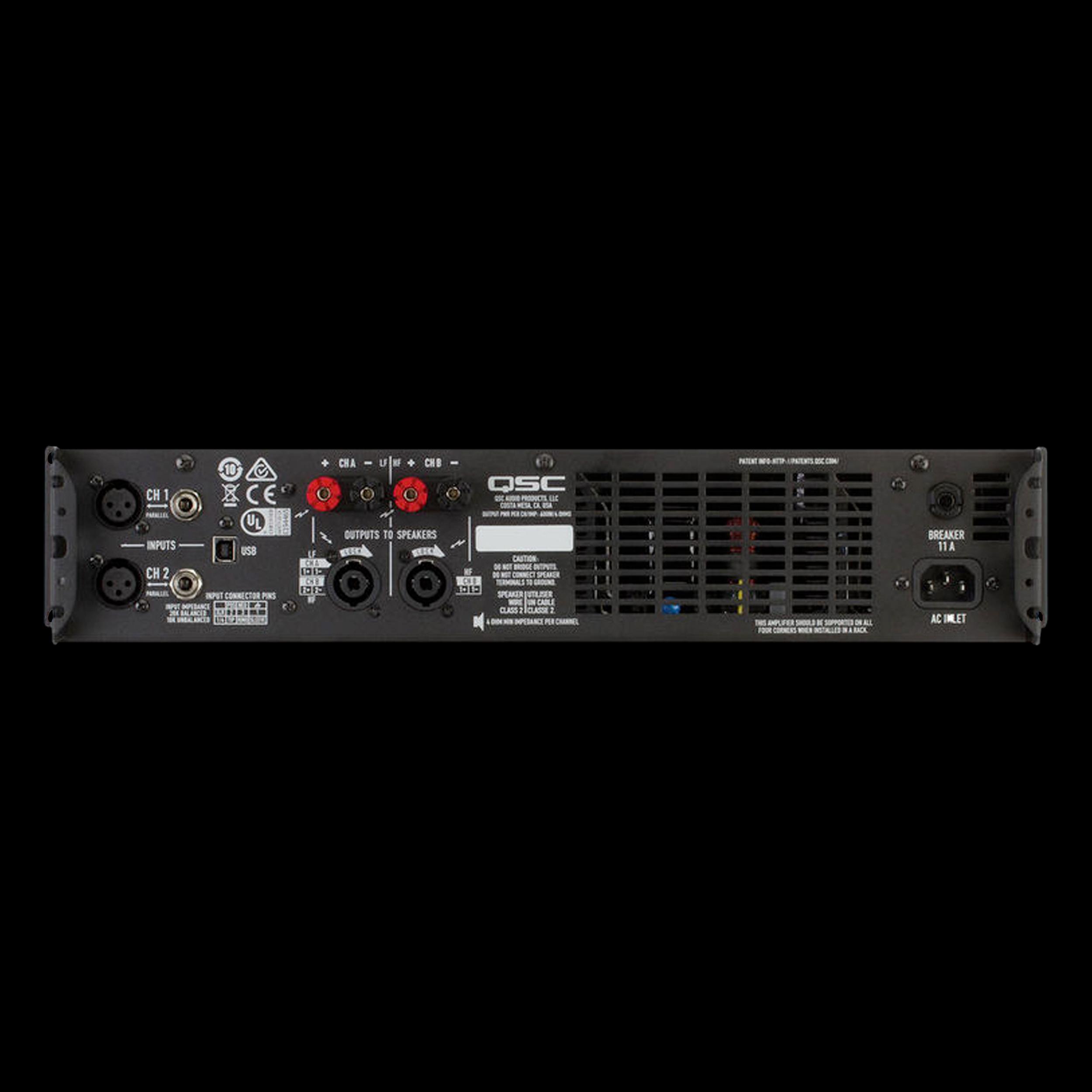qsc gxd 4 lightweight class d 1600w profesional power amplifier. Black Bedroom Furniture Sets. Home Design Ideas