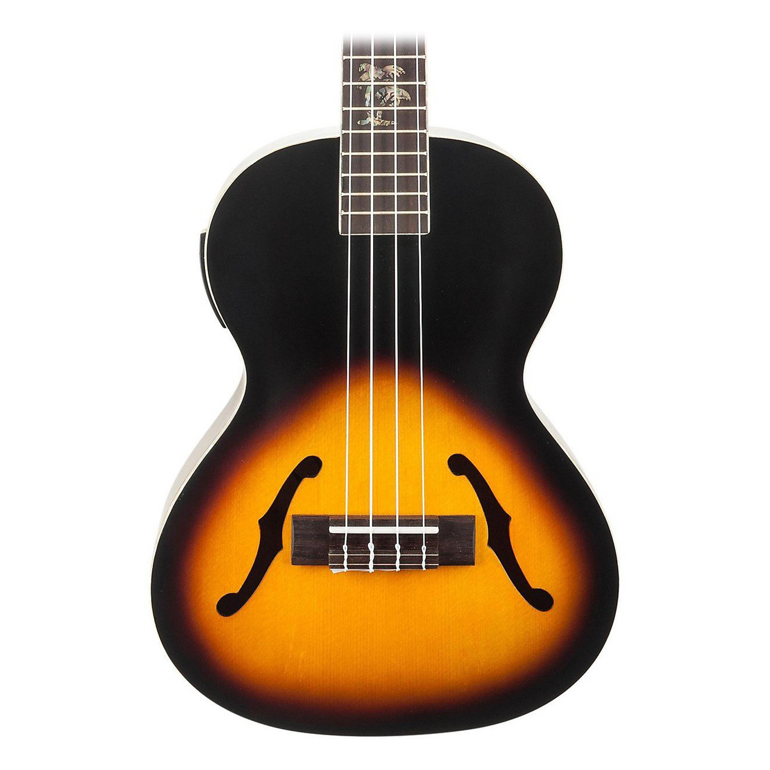 kala archtop acoustic electric tenor ukulele 2 tone sunburst ebay. Black Bedroom Furniture Sets. Home Design Ideas