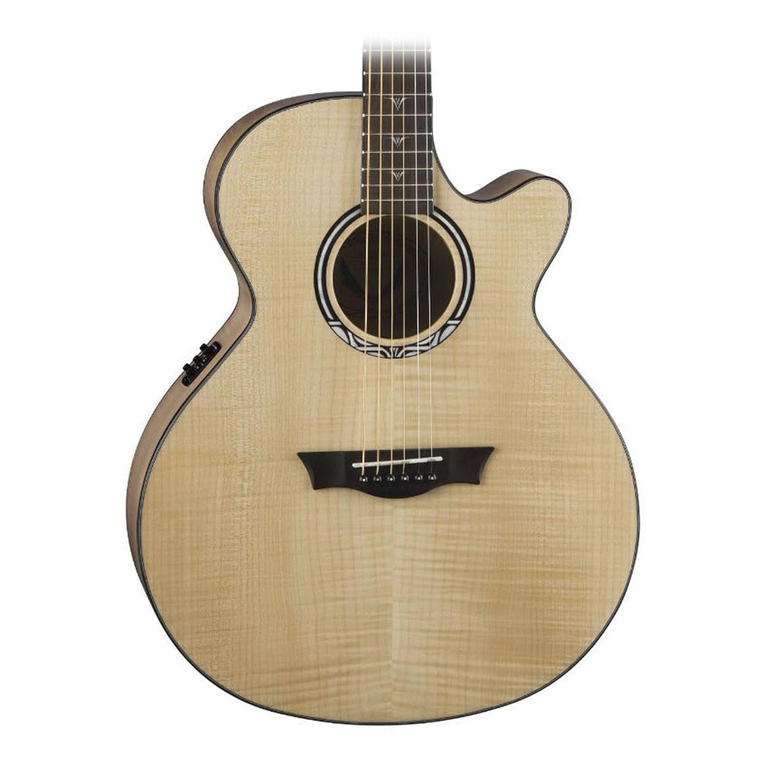 dean performer ultra flame maple acoustic electric guitar natural ebay. Black Bedroom Furniture Sets. Home Design Ideas