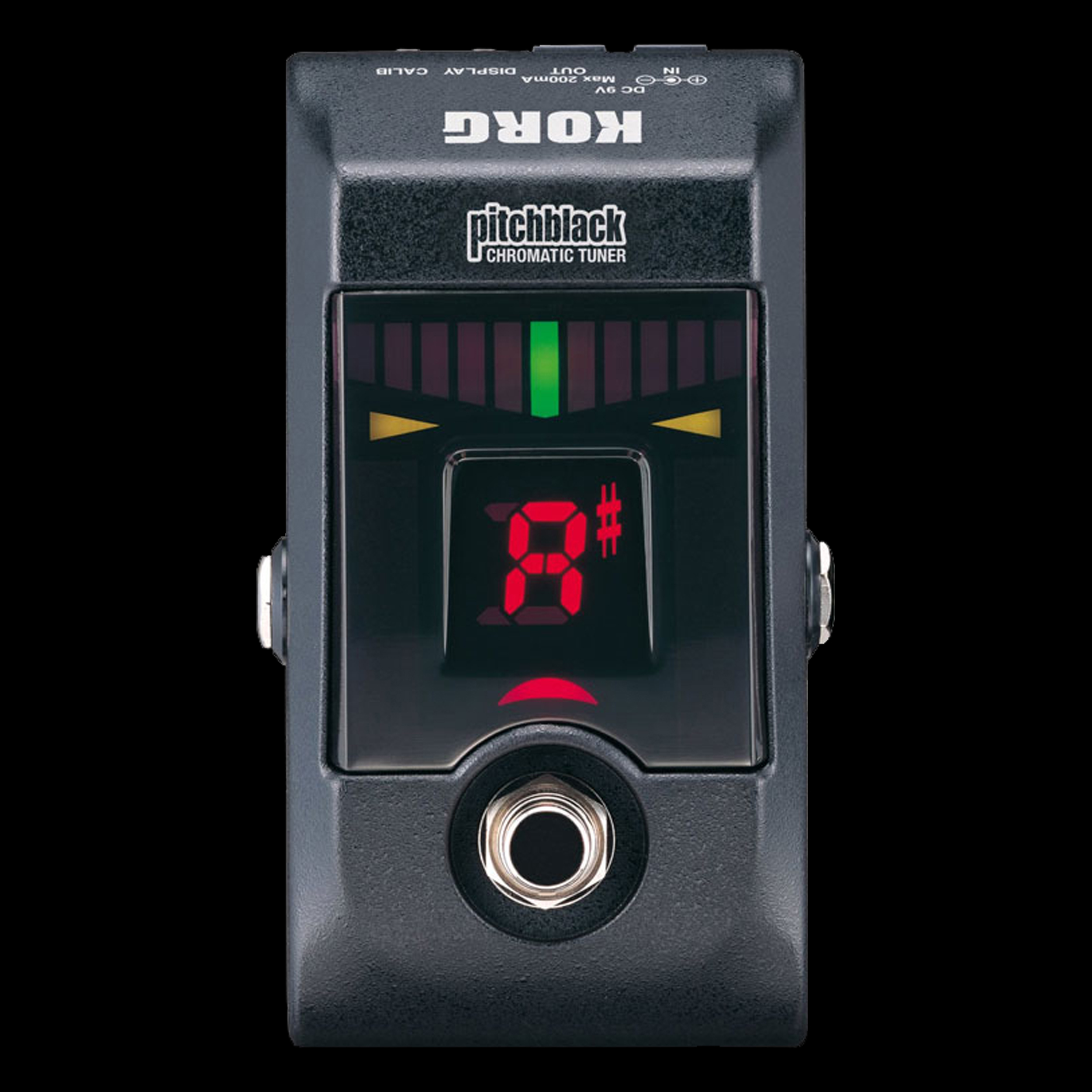 korg pitchblack chromatic guitar and bass pedal tuner ebay. Black Bedroom Furniture Sets. Home Design Ideas