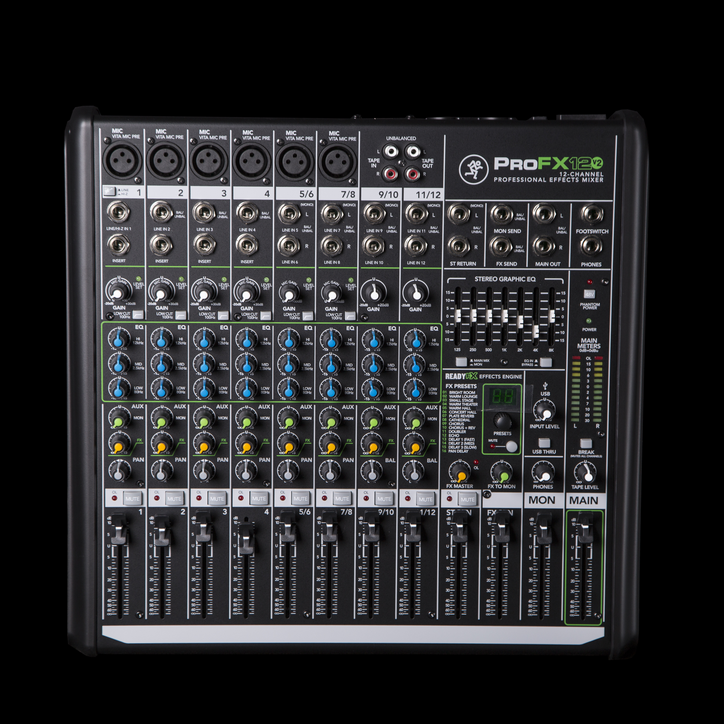 Mackie Profx12 V2 Usb Mixer With Fx 12 Channel Ebay