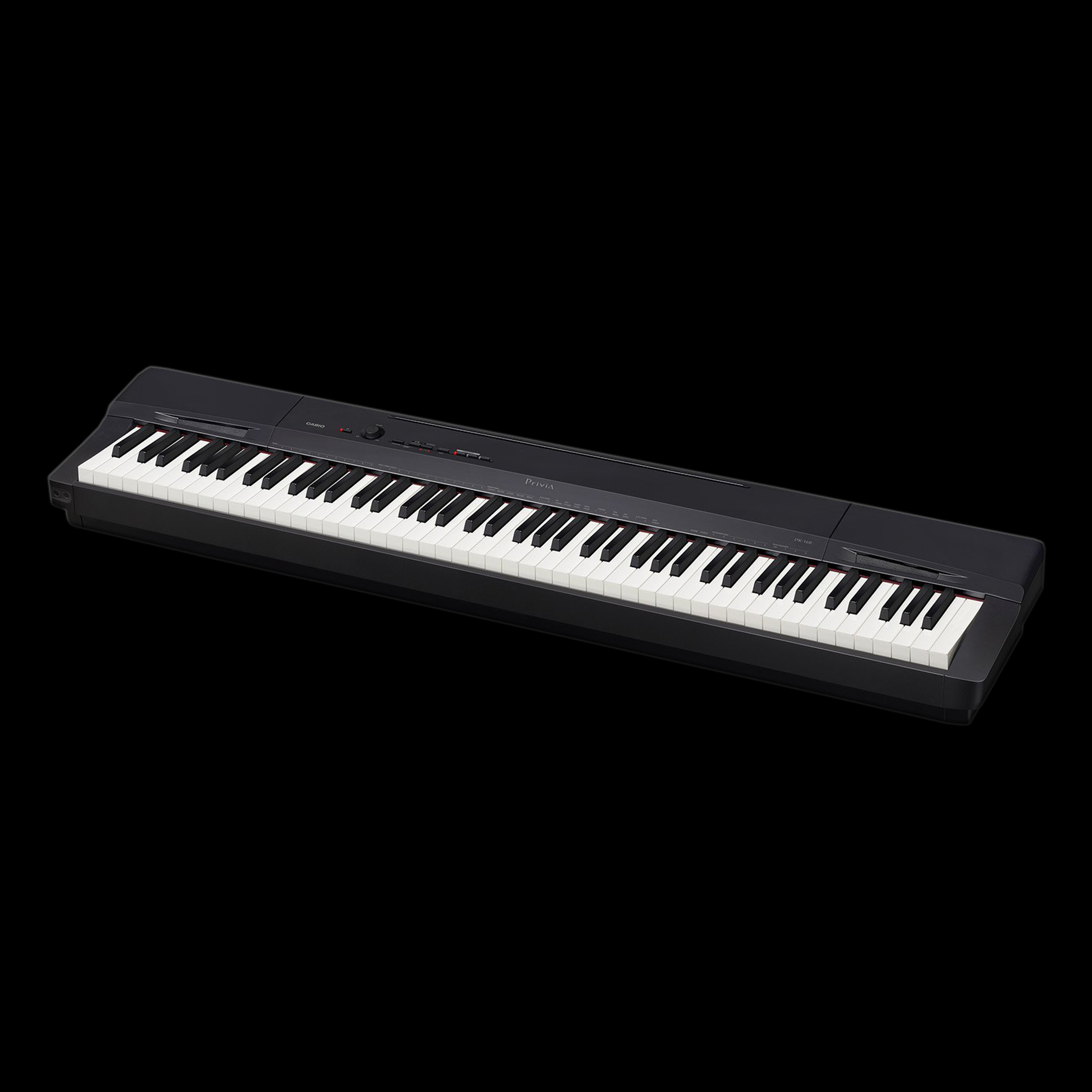 casio px 160bk digital piano 88 full weighted keys black ebay. Black Bedroom Furniture Sets. Home Design Ideas