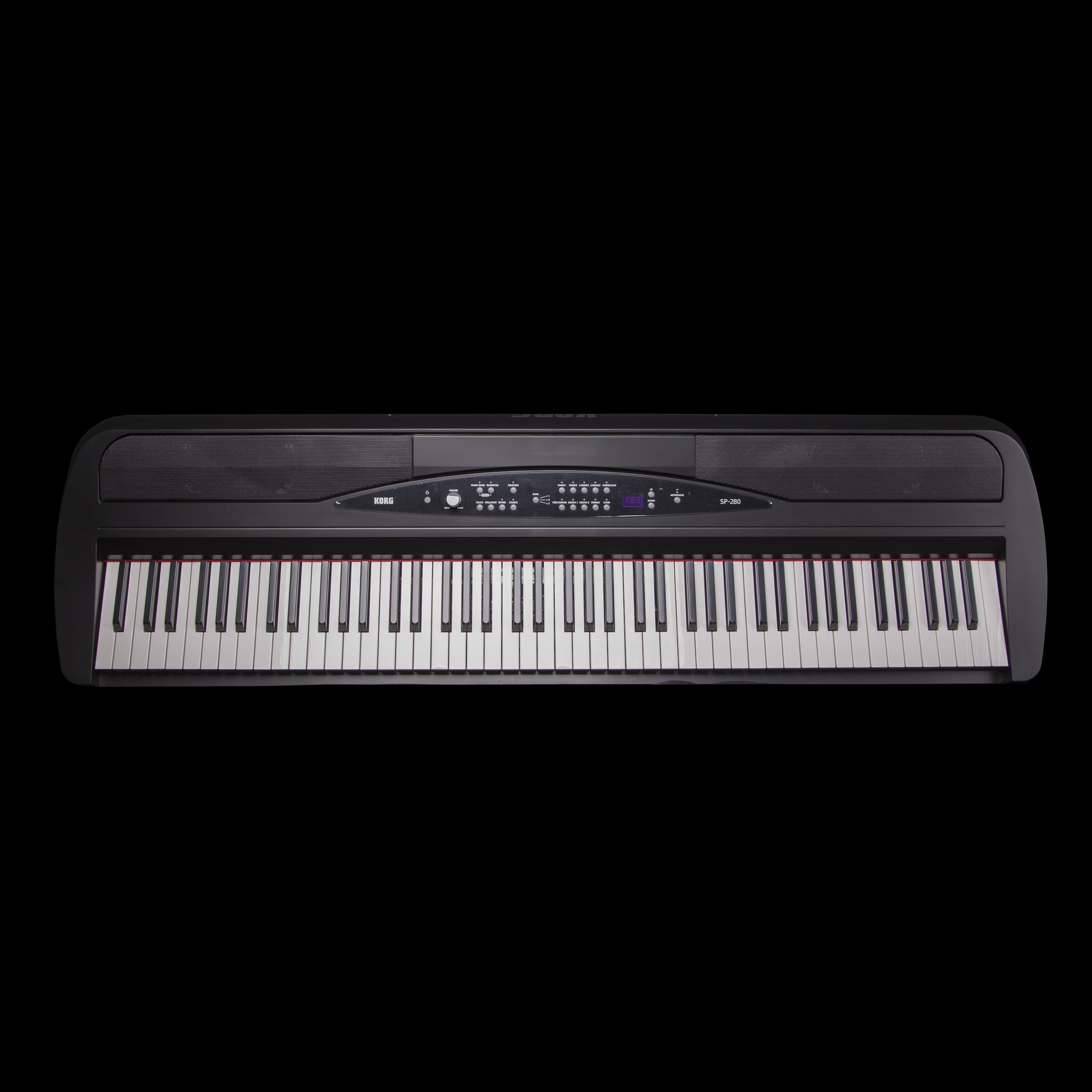 korg sp 280 digital piano in black ebay. Black Bedroom Furniture Sets. Home Design Ideas