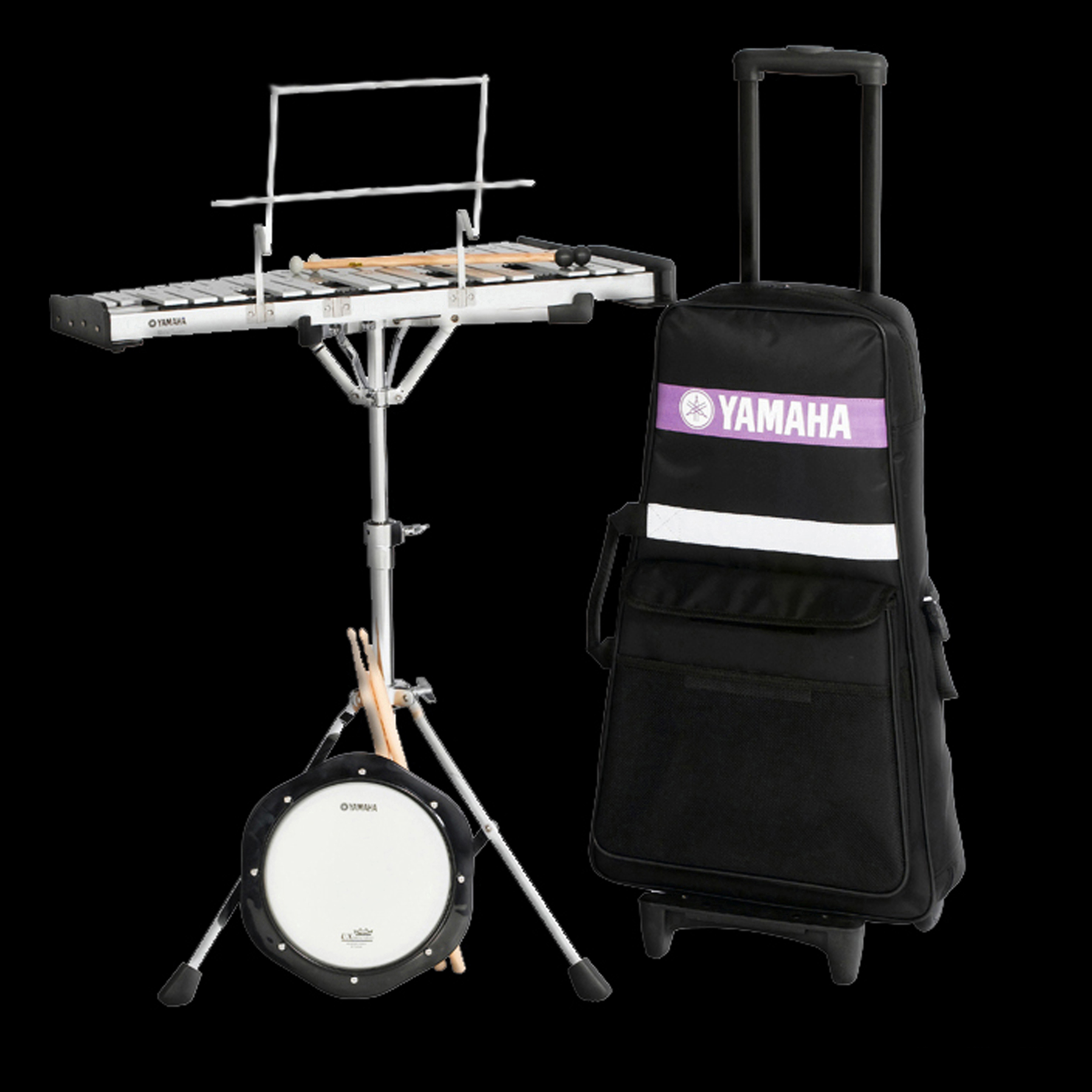 Yamaha spk 275r student bell kit with rolling cart ebay for Yamaha student bell kit with backpack and rolling cart