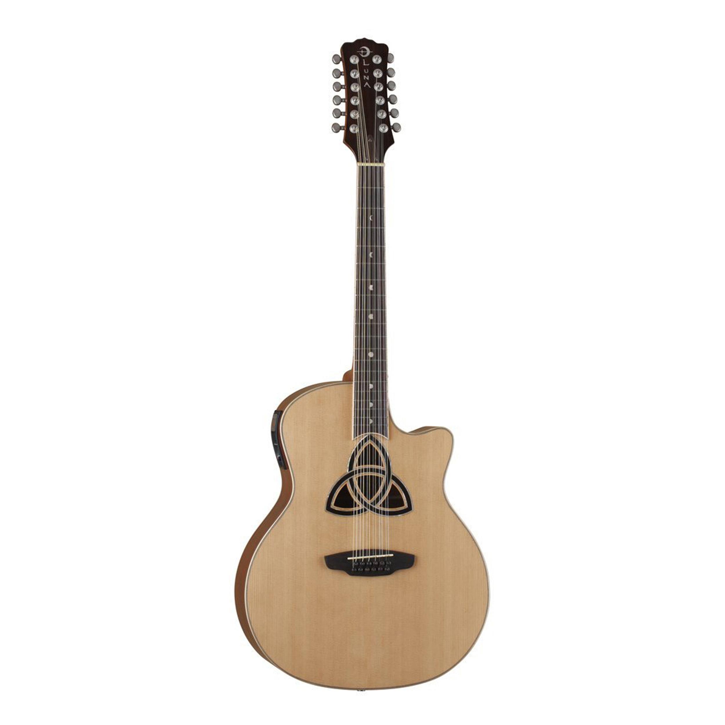 luna trinity 12 string acoustic electric guitar 886830595554 ebay. Black Bedroom Furniture Sets. Home Design Ideas