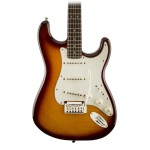 Squier Standard Stratocaster FMT Electric Guitar in Amber Sunburst