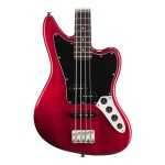 Squier Vintage Modified Jaguar Special Bass in Crimson Red Transparent